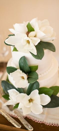Post Feeds Great for visiting to our site. You are nice to have a look to Magnolia Wedding Decorations. This amazing Magnolia Wedding Decorations will. Southern Wedding Cakes, Cool Wedding Cakes, Southern Weddings, Southern Wedding Flowers, Glamorous Wedding Flowers, Southern Belle Party, Magnolia Cake, Magnolia Wedding, Magnolia Bouquet