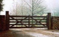 Looking to for wooden gates for your manor or estate? Authentic Gates has over 10 years experience in the industry. Order your genuine timber gate online today. Timber Gates, Timber Fencing, Wooden Gates, Wooden Driveway Gates, Front Gates, Entry Gates, Front Fence, Farm Fence, Fence Gate