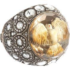 Sevan Bicakci Dove Carved Lemon Topaz Ring