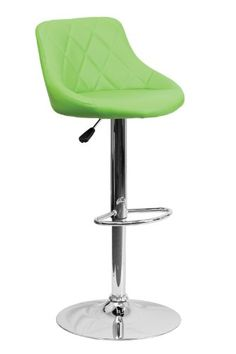 Flash Furniture Contemporary Green Vinyl Bucket Seat Adjustable Height Footrest Bar Stool with Chrome Base ObiwanSales http://www.amazon.com/dp/B00EQC9JKA/ref=cm_sw_r_pi_dp_4kP0tb1CR0DZRX4G  Comes in orange too!  67.24 plus free shipping