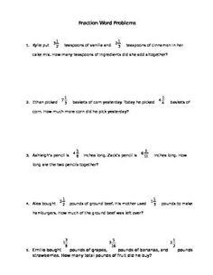 math worksheet : addition and subtraction fraction problem solving task cards  : Comparing Fractions Word Problems Worksheets