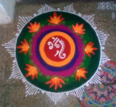 Small Rangoli Designs and Patterns for Diwali Sanskar Bharti Rangoli Designs, Rangoli Colours, Rangoli Patterns, Rangoli Ideas, Indian Rangoli, Diwali Rangoli, Simple Rangoli, Rangoli Designs Flower, Small Rangoli Design