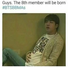 It more like picture of jin when he was pregnant with kookie