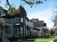 """Angelino Heights is a small quarter of Echo Park, right near Dodger Stadium.  It is LA's first residential neighborhood founded in 1886, notable for its well kept Victorian homes.  Especially Carroll Avenue.  The house used in the """"Thriller"""" music video is also on this street."""