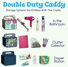 Love our Double Duty Caddy! Organize your life with Thirty-one. Contact me or order. Just click the pic! https://www.mythirtyone.com/108706