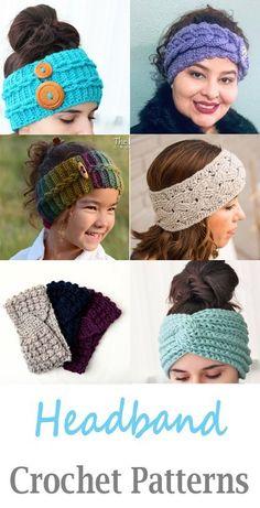 Super Crochet Crafts To Sell Ear Warmers Ideas – top crop , polos cortos , d… - Stirnband Stricken Bandeau Crochet, Crochet Headband Free, Crochet Beanie, Crocheted Headbands, Crochet Kids Hats, Crochet Crafts, Crochet Clothes, Crochet Baby, Womens Crochet Hats