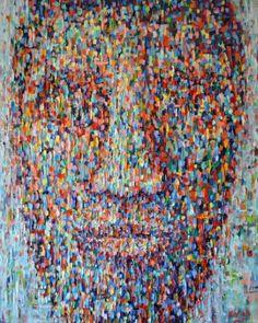 """Saatchi Art Artist Dejan Bozinovski; Painting, """"Anonymous 8"""" #art"""