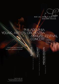 Philadelphia Youth Orchestra • 2007 • Mozart: Violin Concerto No. 5 in A Major, Turkish • Paone Design Associates