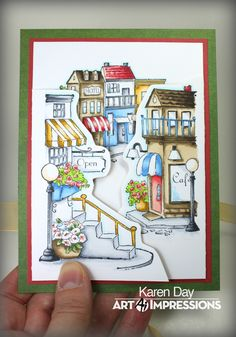 Art Impressions Blog: Shoppes Try-fold by Karen Day