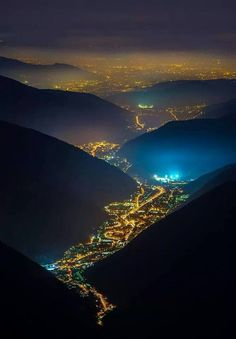 Valtellina from an aerial view.  This photo hasn't been taken by me!