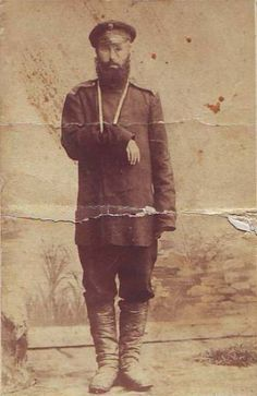 Portrait of a veteran from the Russo-Japanese War, Irkutsk, 1906. Photo by the studio of D.N. Mamonov.