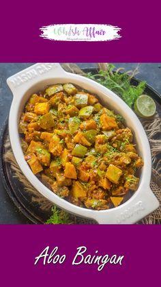Baigan Recipes, Aloo Recipes, Spicy Recipes, Curry Recipes, Lunch Recipes, Appetizer Recipes, Breakfast Recipes, Cooking Recipes, Indian Potato Recipes