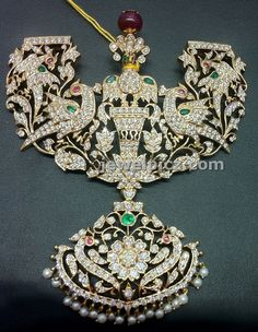 Diamond Pathakam in a lovely design by nalli ~ Latest Indian Jewellery designs