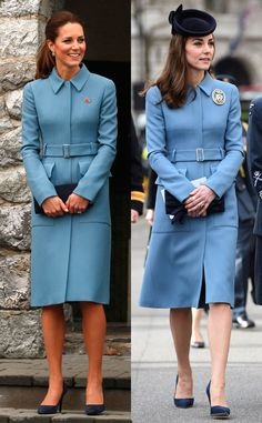 Kate Middleton Recycles Chic Coat at RAF Air Cadets' 75th Anniversary Celebration and Talks About Prince George | E! Online
