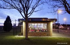 Cafetaria in stijl Amsterdamse School - Architectuur.nl