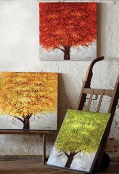 oh I love this, could so make with a set of canvases!