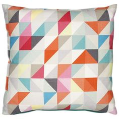 Geometric Print Cushion, John Lewis