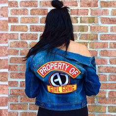 Everyone needs a denim jacket. And what's trending right now is patches. So. Why not rep your favorite #GirlGang?? These are limited edition to the Alicia DiMichele Collection!! Welcome to the squad. #squadgoals  SHOP: http://ift.tt/1rNgIir  SEARCH: Property Of Jacket CODE: FREESHIP @ checkout