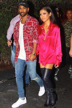 Big Sean wearing  Maniamania God is My Source Hat, Supreme Broken Paisley Flannel, Saint Laurent Original Low Waist Skinny Jean