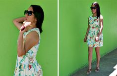 A SPRING LOOK #fashion, #streetstyle, #tropical print, #dress, #springdress, #spring,#spring15, #ootd, #outfits for spring