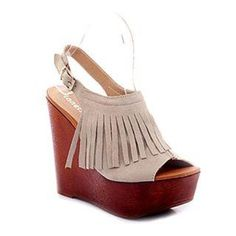 Fringe wedges - these are so cute! But too bad heels are not am option for me Cute Shoes, Me Too Shoes, Wedge Sandals, Wedge Shoes, Leather Fringe, Look At You, Crazy Shoes, Passion For Fashion, Elegant
