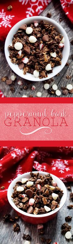 Eat candy for breakfast (and feel good about doing it) with this peppermint bark granola!