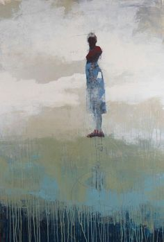 """Art by Cathy Hegman -- Weight of Balance Ethereal; 2014; acrylic on panel; 60"""" x 40"""" [CH 47]"""