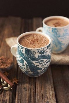 coffee time Chai dairy-free hot chocolate made with unsweetened coconut milk But First Coffee, I Love Coffee, Coffee Break, Morning Coffee, Coffee Shop, Coffee Lovers, Coffee Drinks, Coffee Cups, Tea Cups
