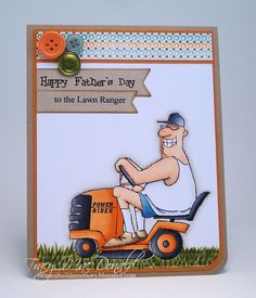The Lawn Ranger from Art Impressions Ai People line.  Happy Father's Day card. (would be great for a birthday too)