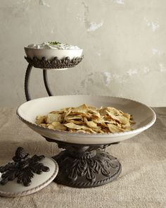 GG Collection Chip and Dip Server from Horchow. Saved to Shop more products from Horchow on Wanelo. Neiman Marcus, Serveware, Tableware, Kitchenware, Kitchen Canisters, Shabby Chic, Mediterranean Home Decor, Tuscan Decorating, Tuscan Style