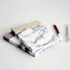 Take Note With This Stylish DIY Marbled Notebook