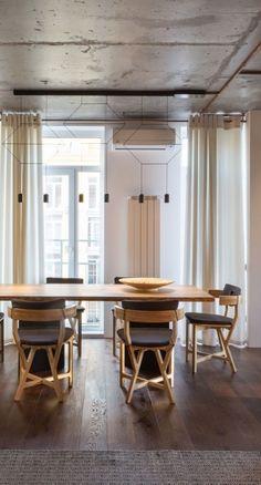 Architecture Beast: Modern interior design: True Apartment by SVOYA | #modern #diningroom #interior #design #contemporary #furniture #table #chairs #wood