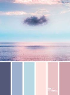 peinture salon tendance Blue and Mauve color palette inspired by sky color ,evening sky color palette Blue and Mauve color palette inspi Color Schemes Colour Palettes, Blue Colour Palette, Bedroom Color Schemes, Mauve Color, Pastel Colors, Colours, Color Blue, Good Bedroom Colors, Sky Colour