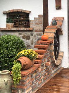 Landscape Design, Garden Design, Red Bricks, Front Yard Landscaping, Landscaping Ideas, Shade Landscaping, Country Landscaping, Backyard Patio, Backyard Ideas