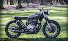 Nice, simple brat with scrambling tyres. The Bike Shed writes, '1976 Honda CB360 as featured on the bike shed this month. You can see more full size photos and read the full feature on the build HERE. Please phone or email for more details to luke@Robinsonsspeedshop.com (Office hours only on phone please).'