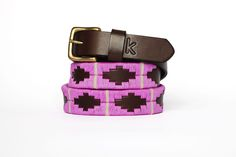 Polo leather belts from Argentina / Pink Beige