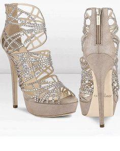 Gold diamond heels   ♚KillR Heels♚   Pinterest   High heels ...