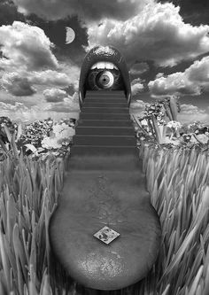 Like if your a fan of 27 Cool & Trippy Pictures Bad Trip, Photographie Street Art, Trippy Pictures, Illustration Photo, Acid Art, Psy Art, Photocollage, Psychedelic Art, Surreal Art