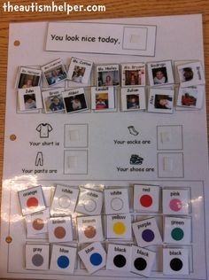 Complimenting Visual - great way to prompt social interaction between students who are nonverbal! by theautismhelper.com