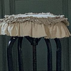 Custom Table Runner or Dresser runner multi ruffle ivory linen cotton canvas lace Handmade French Country Farmhouse dining room table design French Country Bedding, French Country Tables, French Country Farmhouse, Farmhouse Table Runners, Farmhouse Dining Room Table, White Beige, Brown Beige, Warm Home Decor, Christmas Pillow Covers