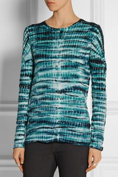 Proenza Schouler | Tie-dye slub cotton-jersey top