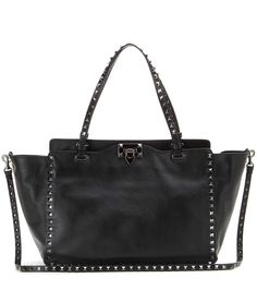 f84a33faf803 VALENTINO Rockstud Noir Small Leather Tote.  valentino  bags  tote  leather