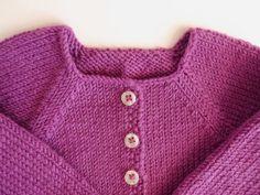 Chaqueta de niña rosa ciruela/ lana merina/ ropa de por Pentapolin