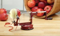 Amazon.com: Mrs. Anderson's Baking Apple and Potato Peeler, Corer and Slicer with Suction Base, Red: Corers: Kitchen & Dining