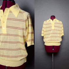 Mens Vintage 1970s NOS Never Worn Casual Collar Polo Shirt Original Bon Marche Tag Attached.    Every time I look at this shirt, I think of Jack