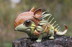 Anya Stasenko and Slava Leontyev craft fantastical creatures adorned with ornate sculptural details.