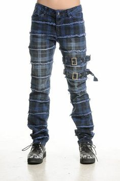 Blooms Punk Rock Grid Pattern Ties Long Pants (Small, Blue) Blooms http://www.amazon.com/dp/B00JYJUHEC/ref=cm_sw_r_pi_dp_QSz4tb0JTKXDV