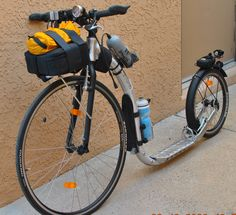 Kickbike Sport Max rigged for night and off road riding. Purchased from  www.kickbikeameri...