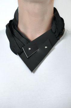 contemporary black leather necklace http://aumorfia.com/shop/zz/#sthash.VbviSpr8.dpuf