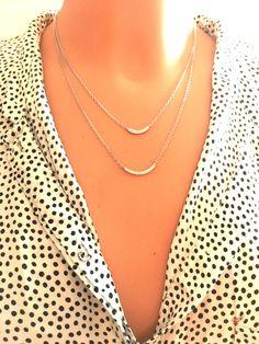 Srebrny naszyjnik podwójny  z cyrkoniami - LuxoroDesign - Naszyjniki srebrne